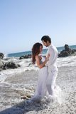 Romantic Couple at the beach Royalty Free Stock Photos