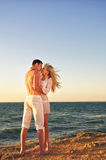 Romantic couple on the beach Royalty Free Stock Photography