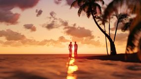 Romantic couple on the beach Stock Photography