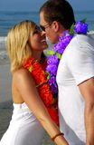 Romantic couple on beach Stock Photo