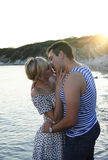Romantic couple on the beach Royalty Free Stock Images