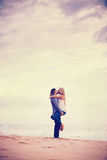 Romantic Couple on the Beach stock photography
