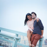 Romantic couple on beach Royalty Free Stock Image