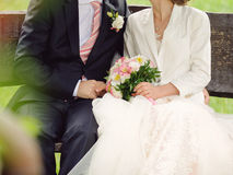 Romantic Couple on Bench Stock Image
