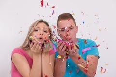 Romantic couple celebrating Stock Photo