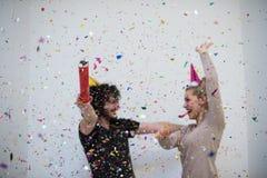 Romantic couple celebrating Royalty Free Stock Photography