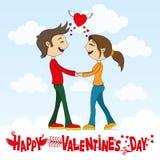 Romantic couple and congratulations Stock Photos