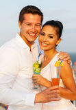 Romantic couple cruise Royalty Free Stock Image