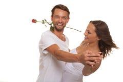 Romantic couple dancing Stock Photos
