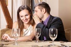 Romantic couple on a date Stock Photos