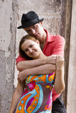 Romantic couple is embracing. Royalty Free Stock Images