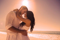 Romantic couple embracing Royalty Free Stock Images