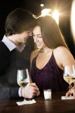 Romantic Couple Enjoying At Nightclub Stock Photography
