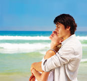 Romantic couple enjoying summer vacation Royalty Free Stock Photos