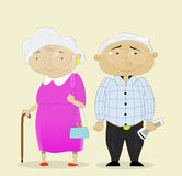 Romantic couple grandparents Royalty Free Stock Photos