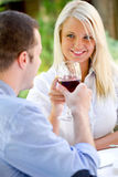Romantic couple have a toast Royalty Free Stock Photography