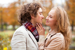 Romantic couple having a date Stock Photography