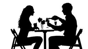 Romantic couple having dinner, red wine stock video footage