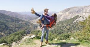 Romantic couple having fun in nature Royalty Free Stock Image