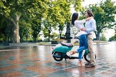 Romantic couple having fun outdoors Stock Image