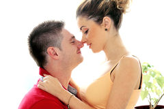 Really romantic couple having a good time Royalty Free Stock Photos