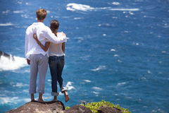 Romantic couple in Hawaii Stock Photography
