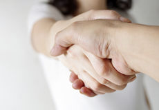 Romantic couple holding hands Royalty Free Stock Photography