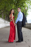 Romantic Couple Holding Hands in London, England Royalty Free Stock Photography