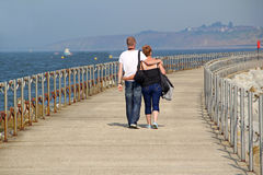 Romantic couple on holiday walk Royalty Free Stock Photography