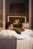 Romantic couple at home Royalty Free Stock Images