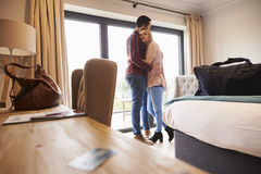 Romantic Couple With Hotel Room Key In Foreground royalty free stock photo