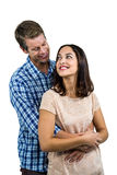 Romantic couple hugging Stock Photography