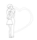 Romantic couple hugging Stock Image