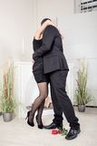 Romantic couple hugging and kissing Royalty Free Stock Photos
