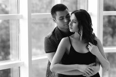 Romantic couple hugging Royalty Free Stock Photo