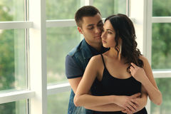 Romantic couple hugging Royalty Free Stock Images