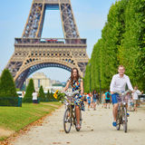 Romantic Couple In Paris On A Summer Day Stock Photography