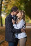 Romantic couple kissing Stock Photos