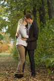 Romantic couple kissing Stock Photography