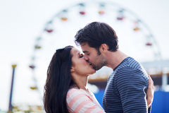 Romantic couple kissing Stock Photo