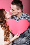 Romantic couple kissing. Love concept. Stock Photos