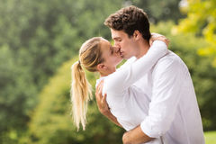 Romantic couple kissing Royalty Free Stock Photo