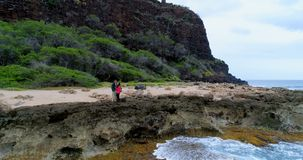 Couple kissing on the sea coast 4k. Romantic couple kissing on the sea coast 4k stock video footage