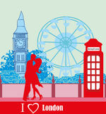 Romantic couple in London Royalty Free Stock Photo