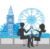 Romantic couple in London Stock Image