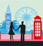 Romantic couple in London Royalty Free Stock Photography