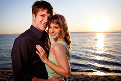 Romantic couple in love Royalty Free Stock Images