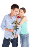 Romantic Couple in Love Stock Photo