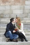 Romantic couple in love celebrating anniversary Royalty Free Stock Photography