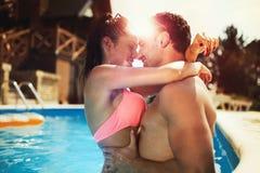 Romantic couple in love enjoying summer break Stock Photo